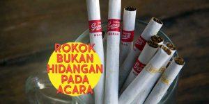 Rokok Bukan Hidangan pada Acara (headers)