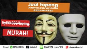Jual topeng anonymous dan Jabbawockeez Makassar