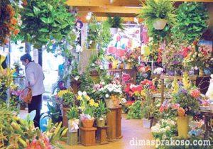 Toko bunga di Makassar
