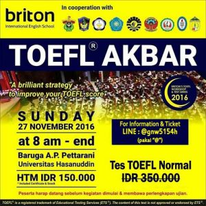 Toefl akbar BRITON Makassar