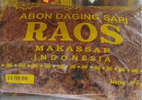 Oleh-oleh khas Makassar - Abon Raos