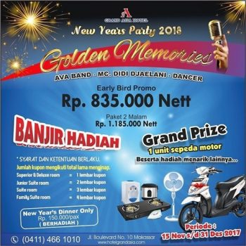 Promo Tahun Baru Hotel Grand Asia Makassar