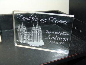 Hadiah pernikahan - Plakat kaca