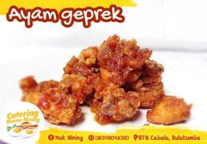 Catering di Bulukumba - Ayam geprek